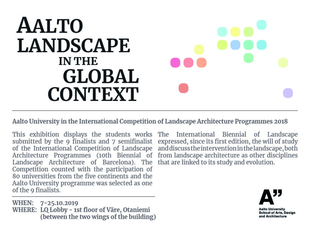 FLYER_Exhibition_AALTO LANDSCAPE IN THE GLOBAL CONTEXT_Landmark30